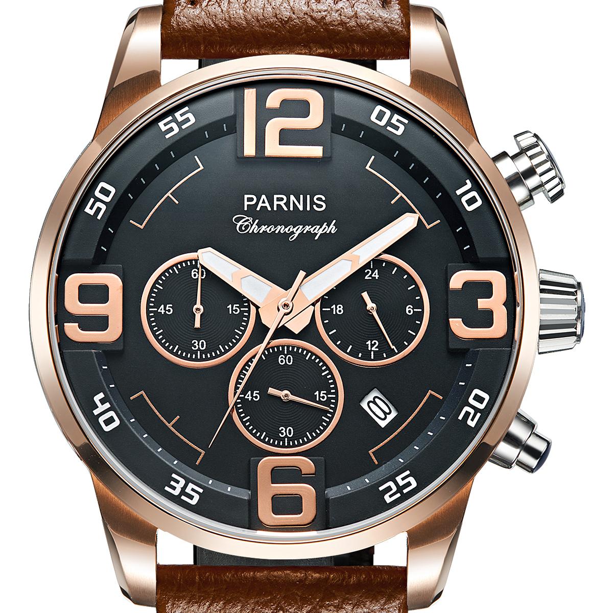 【NEW】PARNIS パーニス クォーツ 腕時計 [P6033-S6EL-RGBR] 並行輸入品 純正ケース メーカー保証12ヶ月