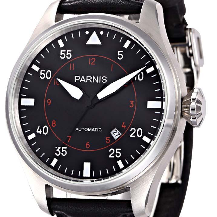 【NEW】PARNIS パーニス 自動巻 腕時計 メンズ [PA2106-S3AL-SVBK] 並行輸入品 メーカー保証