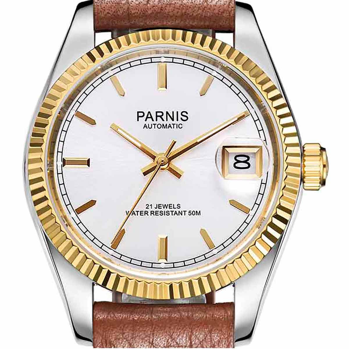 【NEW】PARNIS パーニス クォーツ 腕時計 メンズ [PA2112-P-S3AL-SGDB-B] 並行輸入品 メーカー保証