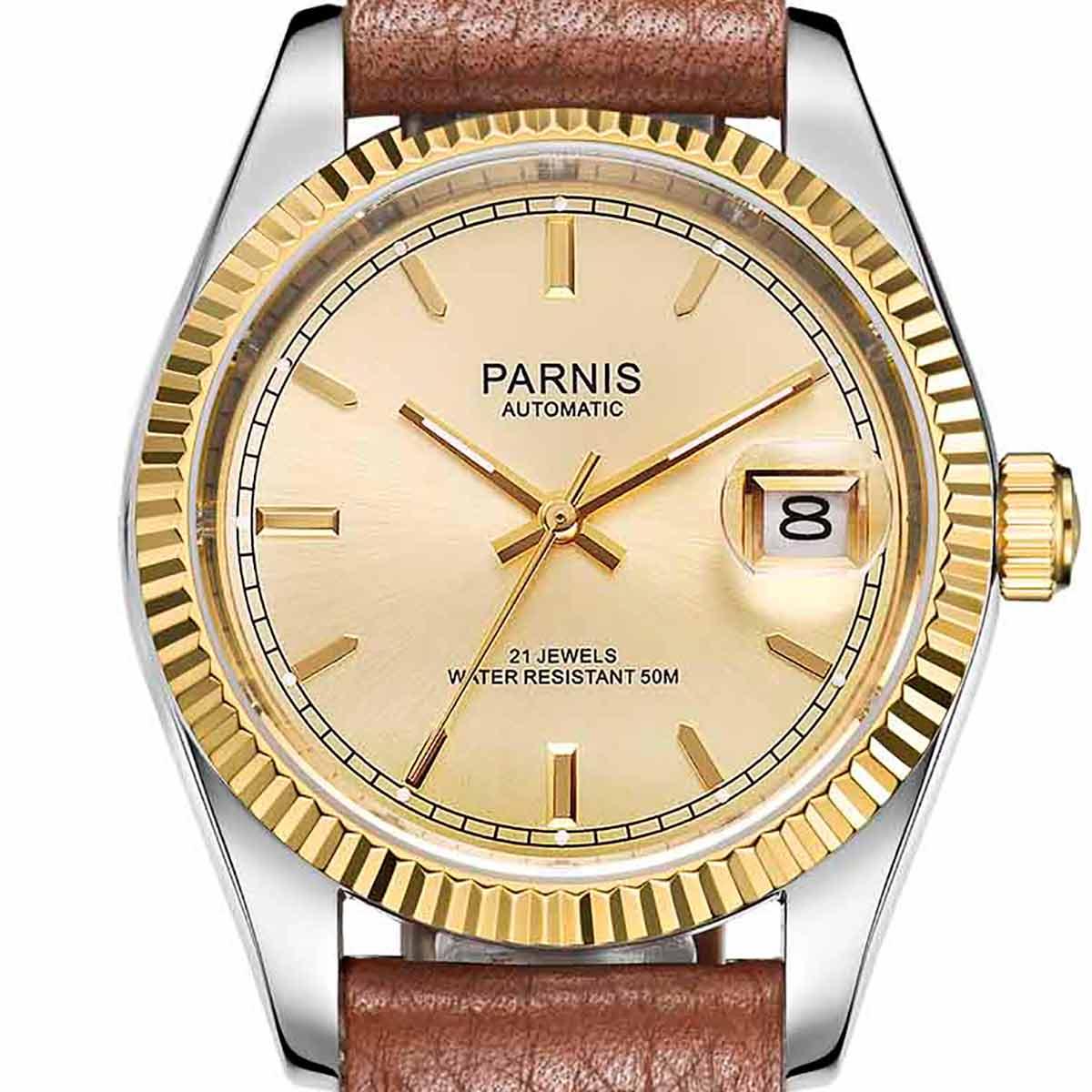 【NEW】PARNIS パーニス クォーツ 腕時計 メンズ [PA2112-P-S4AL-GDDB-B] 並行輸入品 メーカー保証