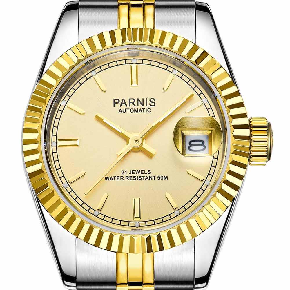 【NEW】PARNIS パーニス 自動巻 腕時計 レディース [PA2112-L-S3AS-GDSG-B] 並行輸入品 メーカー保証