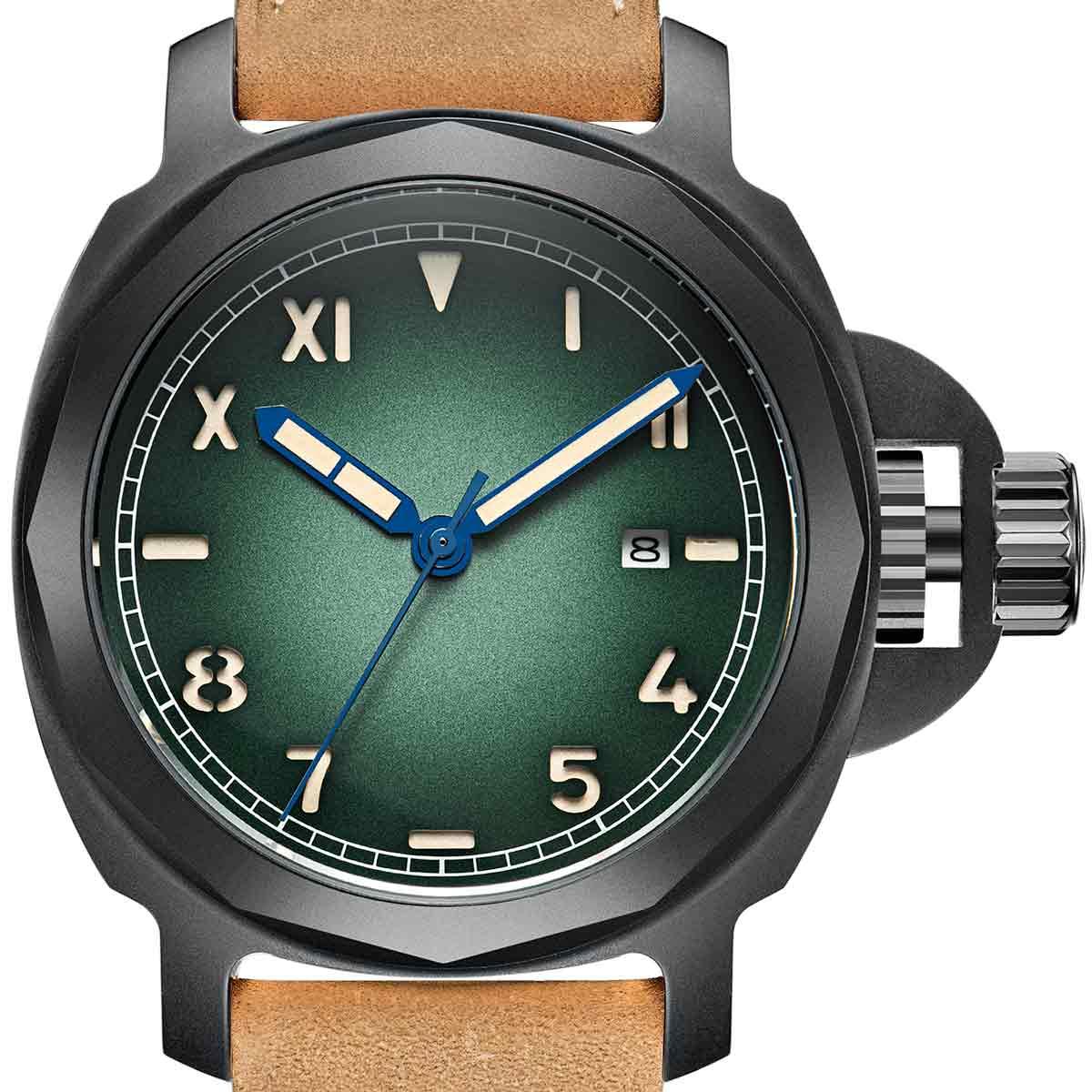 【NEW】PARNIS パーニス 自動巻き 腕時計 [PA6027-S3AL-BKGR] 並行輸入品 純正ケース メーカー保証12ヶ月