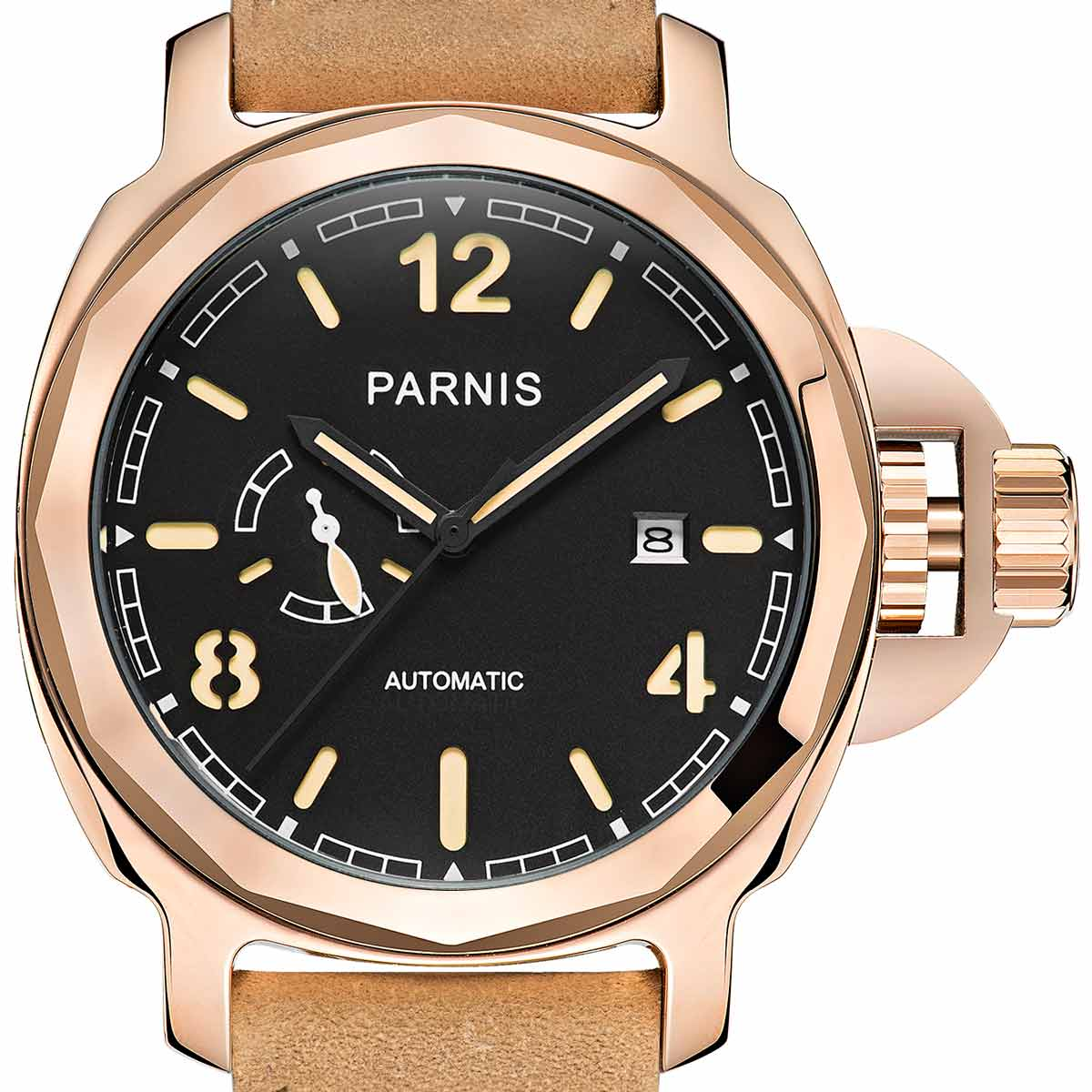 PARNIS Parnis self-winding wristwatch [PA6027-S3AL-RGBK] parallel imports genuine case manufacturer warranty 12 months 10P01Oct16.