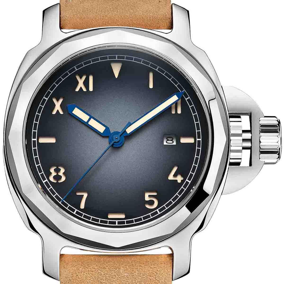 【NEW】PARNIS パーニス 自動巻き 腕時計 [PA6027-S3AL-SVBL] 並行輸入品 純正ケース メーカー保証12ヶ月