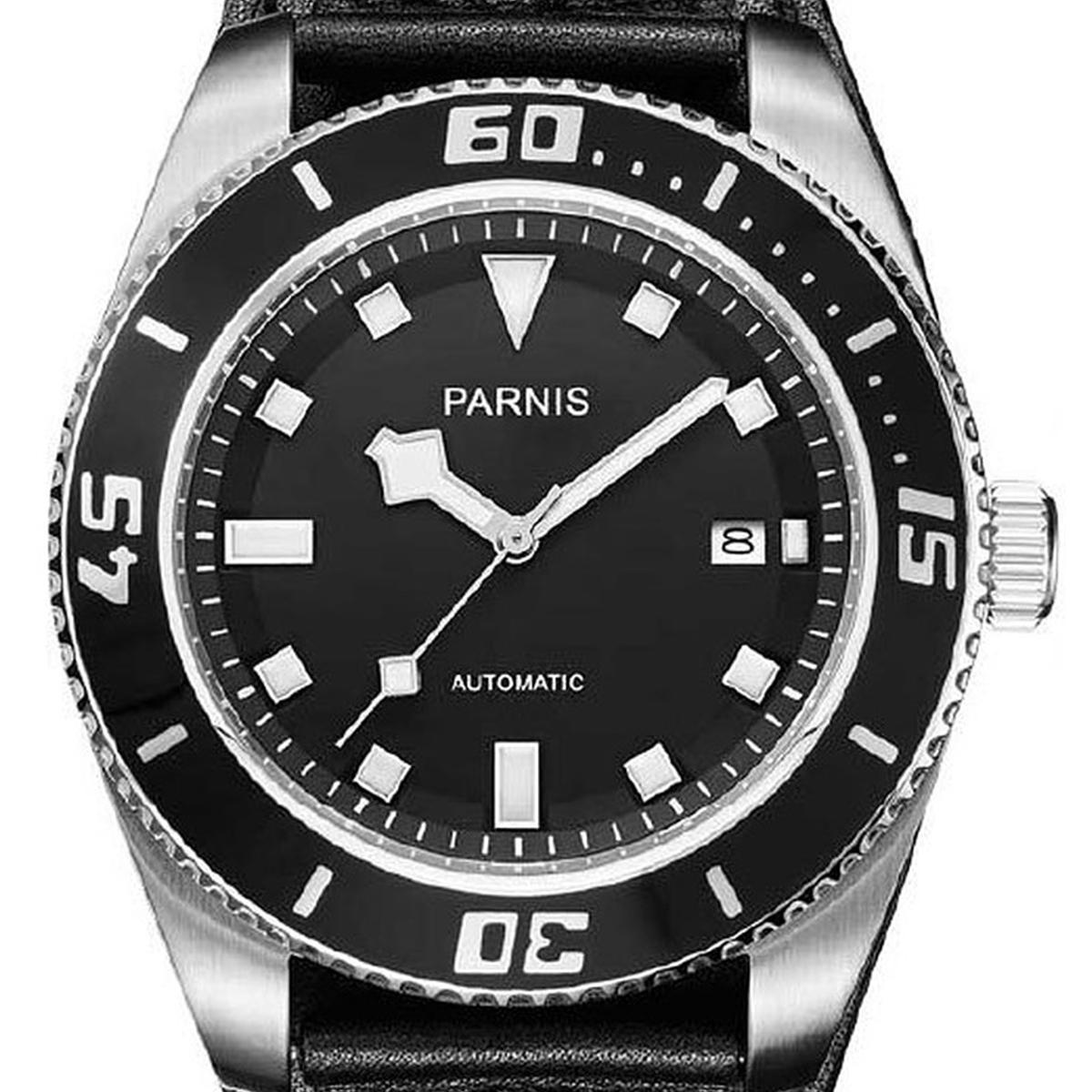 【残り1点】【NEW】PARNIS パーニス 自動巻き 腕時計 [PA6033-S3AL-BKBK] 並行輸入品 純正ケース メーカー保証12ヶ月