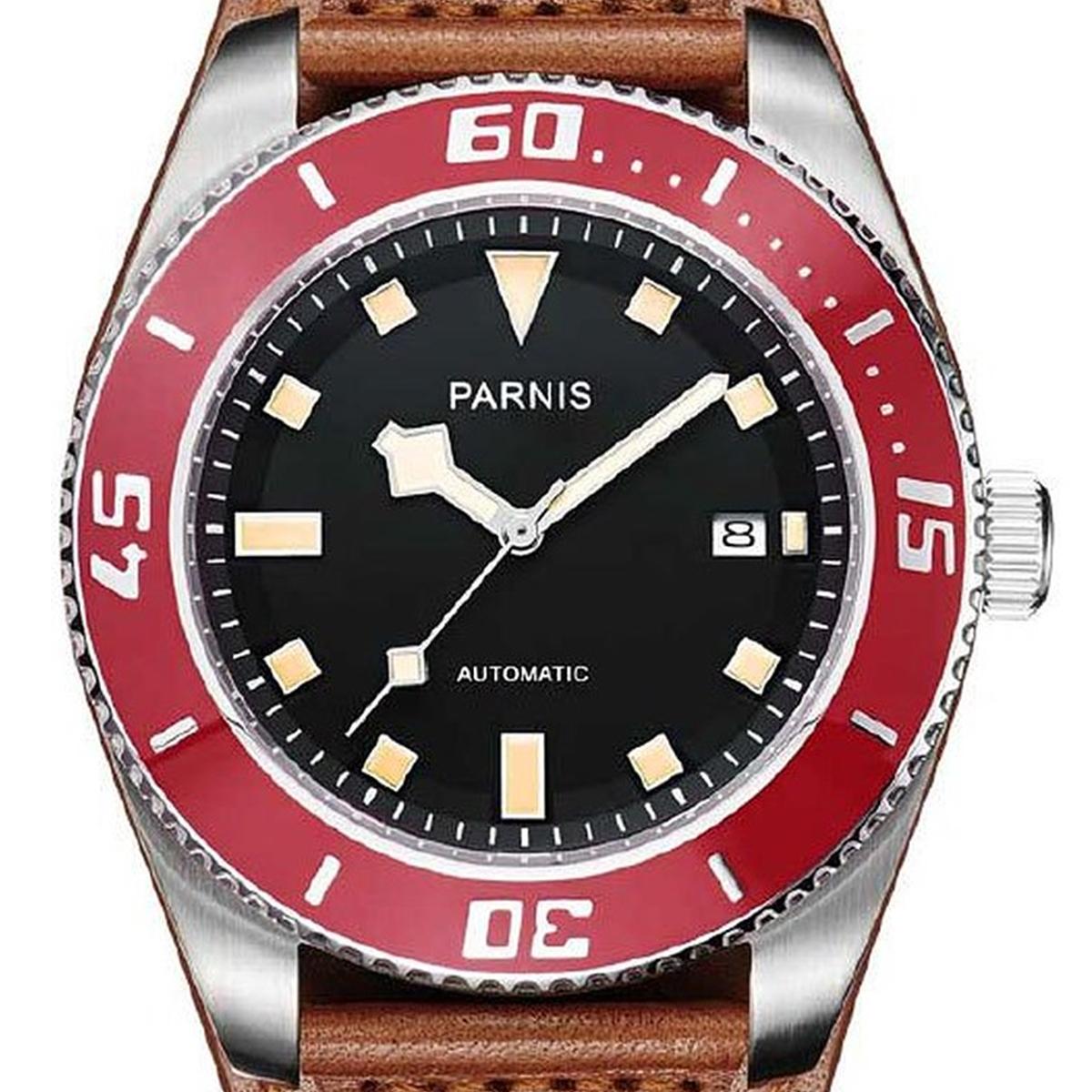 【残り1点】【NEW】PARNIS パーニス 自動巻き 腕時計 [PA6033-S3AL-RDBR] 並行輸入品 純正ケース メーカー保証12ヶ月