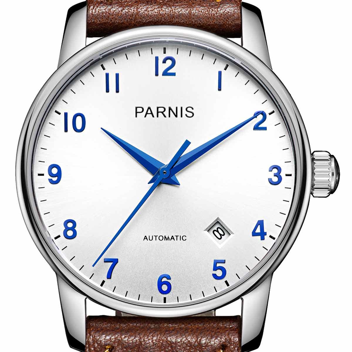 【NEW】PARNIS パーニス 自動巻き 腕時計 [PA6038-S3AS-SVSV] 並行輸入品 純正ケース メーカー保証12ヶ月