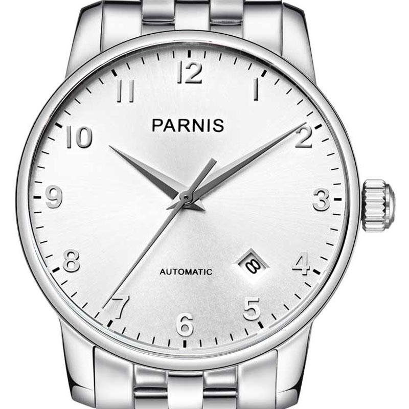 【残り1点】【NEW】PARNIS パーニス 自動巻き 腕時計 [PA6038-S3AS-SVSV] 並行輸入品 純正ケース メーカー保証12ヶ月