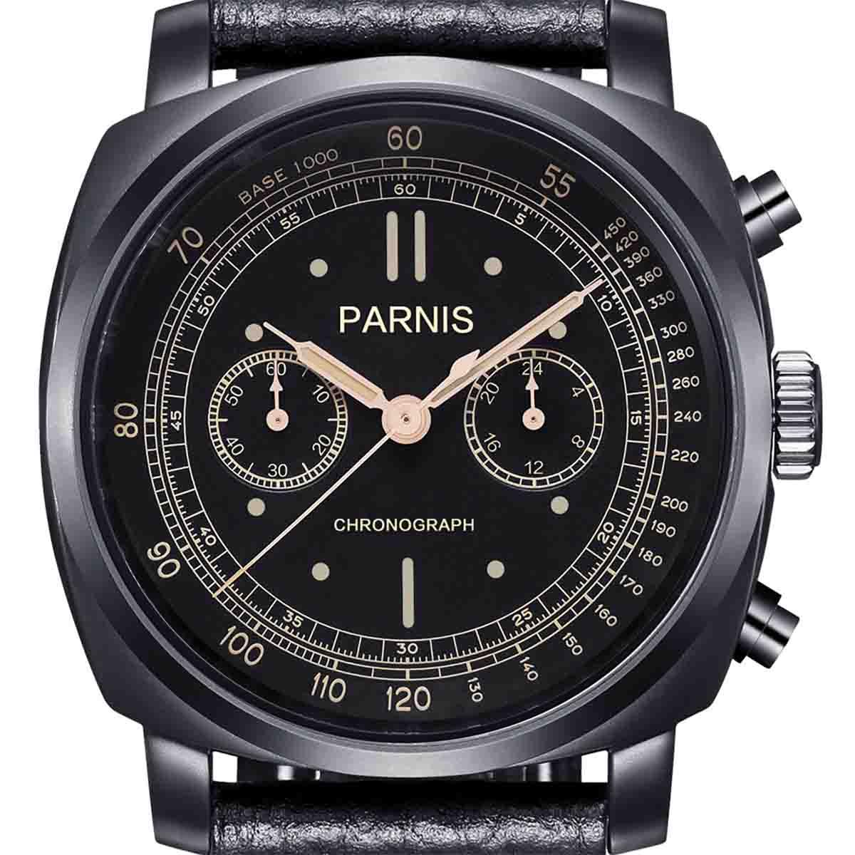 【残り1点】【NEW】PARNIS パーニス クォーツ 腕時計 [PA6046-B-S5EL-BKbkBKw] 並行輸入品 純正ケース メーカー保証12ヶ月