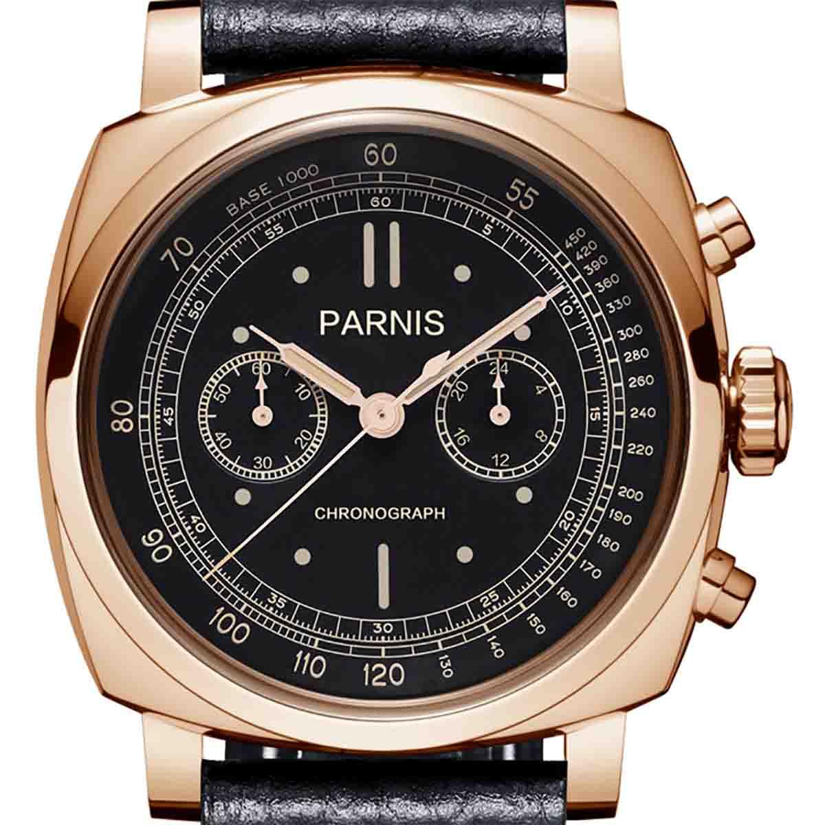 【残り1点】【NEW】PARNIS パーニス クォーツ 腕時計 [PA6046-B-S5EL-BkrgBKw] 並行輸入品 純正ケース メーカー保証12ヶ月