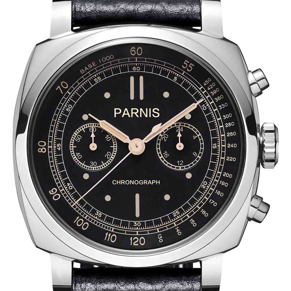 【残り1点】【NEW】PARNIS パーニス クォーツ 腕時計 [PA6046-B-S5EL-BKsvBKw] 並行輸入品 純正ケース メーカー保証12ヶ月