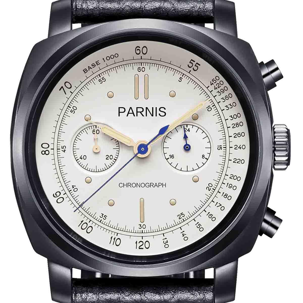 【NEW】PARNIS パーニス クォーツ 腕時計 [PA6046-B-S5EL-WHbkBKw] 並行輸入品 純正ケース メーカー保証12ヶ月