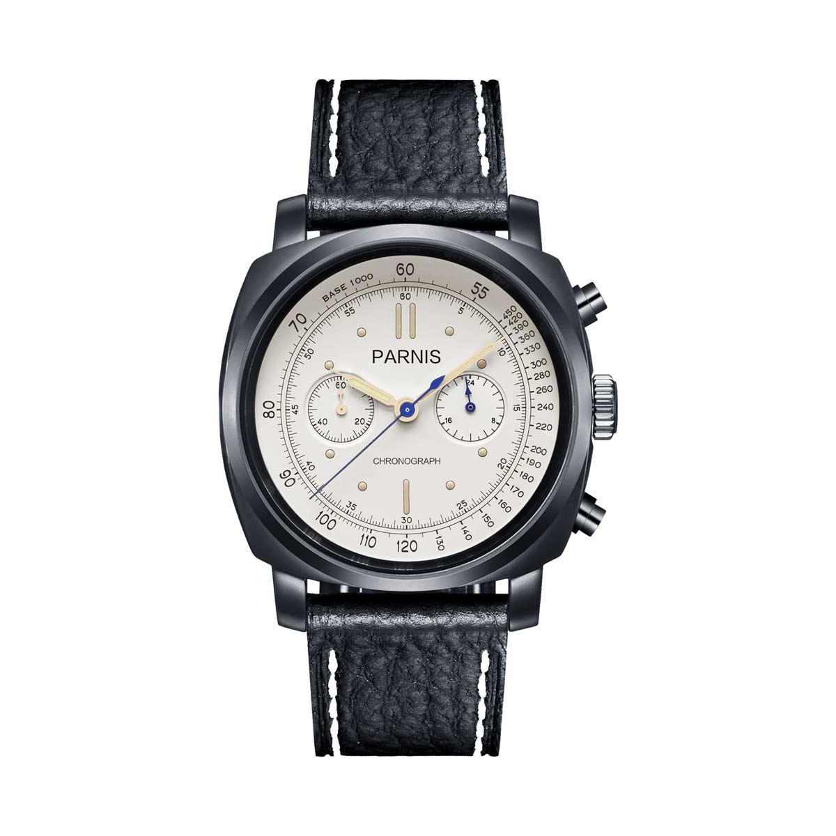 PARNIS Parnis 石英手表 [PA6046-B-S5EL-WHbkBKw] 平行进口真正箱制造商保修 12 个月 10P01Oct16。