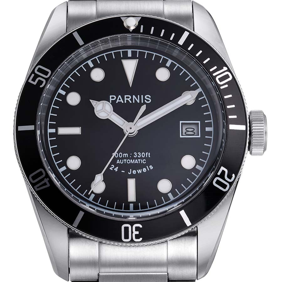 PARNIS Parnis self-winding wristwatch [PA6050-S3AS-BK] parallel imports genuine case manufacturer warranty 12 months 10P05Nov16.