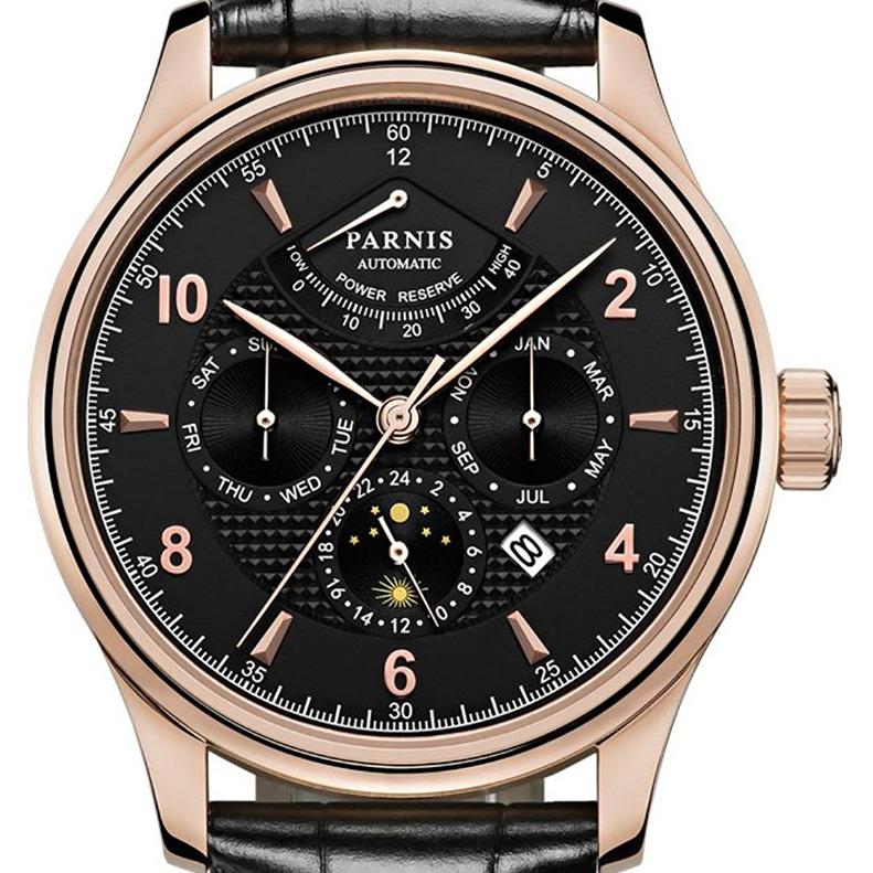 【NEW】PARNIS パーニス クォーツ 腕時計 メンズ [PA6062A-S7AL-BKrgBK] 並行輸入品 メーカー保証