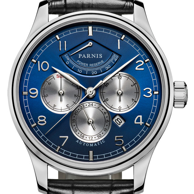 【NEW】PARNIS パーニス クォーツ 腕時計 メンズ [PA6062B-S7AL-BLsvBK] 並行輸入品 メーカー保証