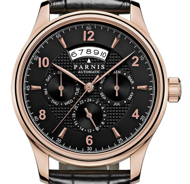【NEW】PARNIS パーニス クォーツ 腕時計 メンズ [PA6062RL-S6AL-BKrgBK] 並行輸入品 メーカー保証