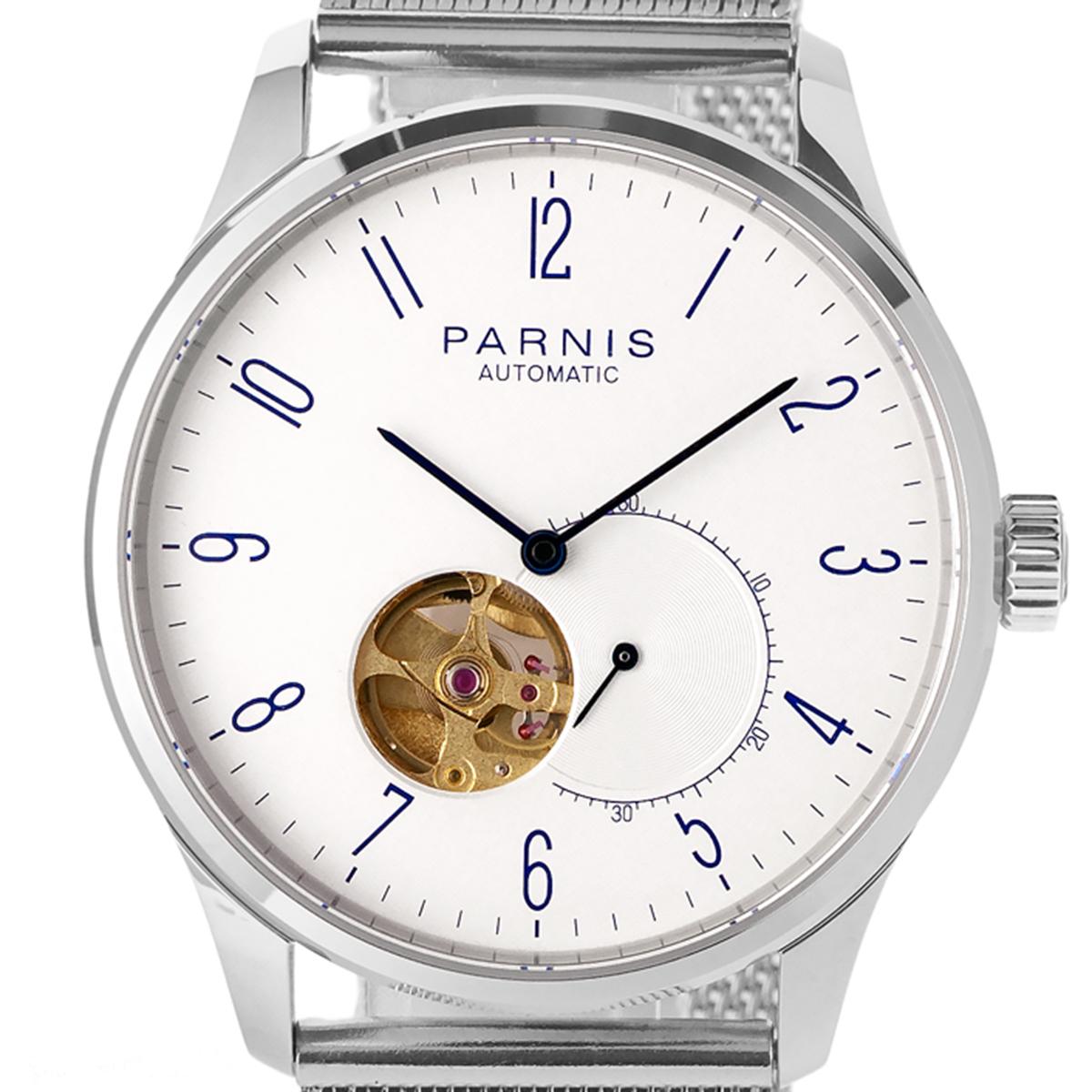 PARNIS パーニス 自動巻き(手巻き機能あり) 腕時計 [PA6084-SB-B] 並行輸入品 スケルトン