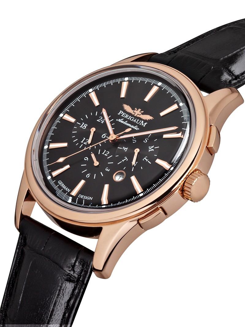 【残り1点】Perigaum ぺリガウム 自動巻き 腕時計 メンズ ウォッチ ドイツ [P-1202-RS] 並行輸入品 メーカー保証24ヵ月 純正ケース付き
