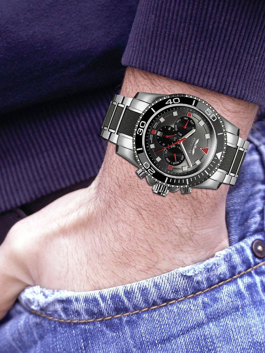 【残り1点】Perigaum ぺリガウム 自動巻き 腕時計 メンズ ウォッチ ドイツ [P-1401-RD] 並行輸入品 メーカー保証24ヵ月 純正ケース付き