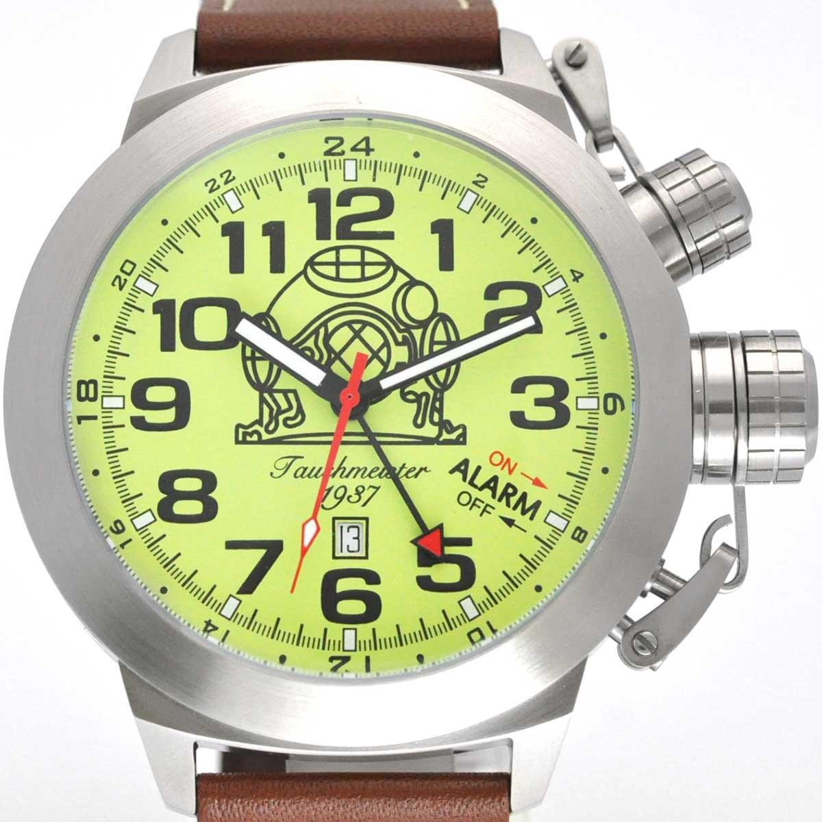 Tauchmeister 1937 トーチマイスター1937 電池式クォーツ 腕時計 [T0305] 並行輸入品  デイト GMT(ワールドタイム) アラーム