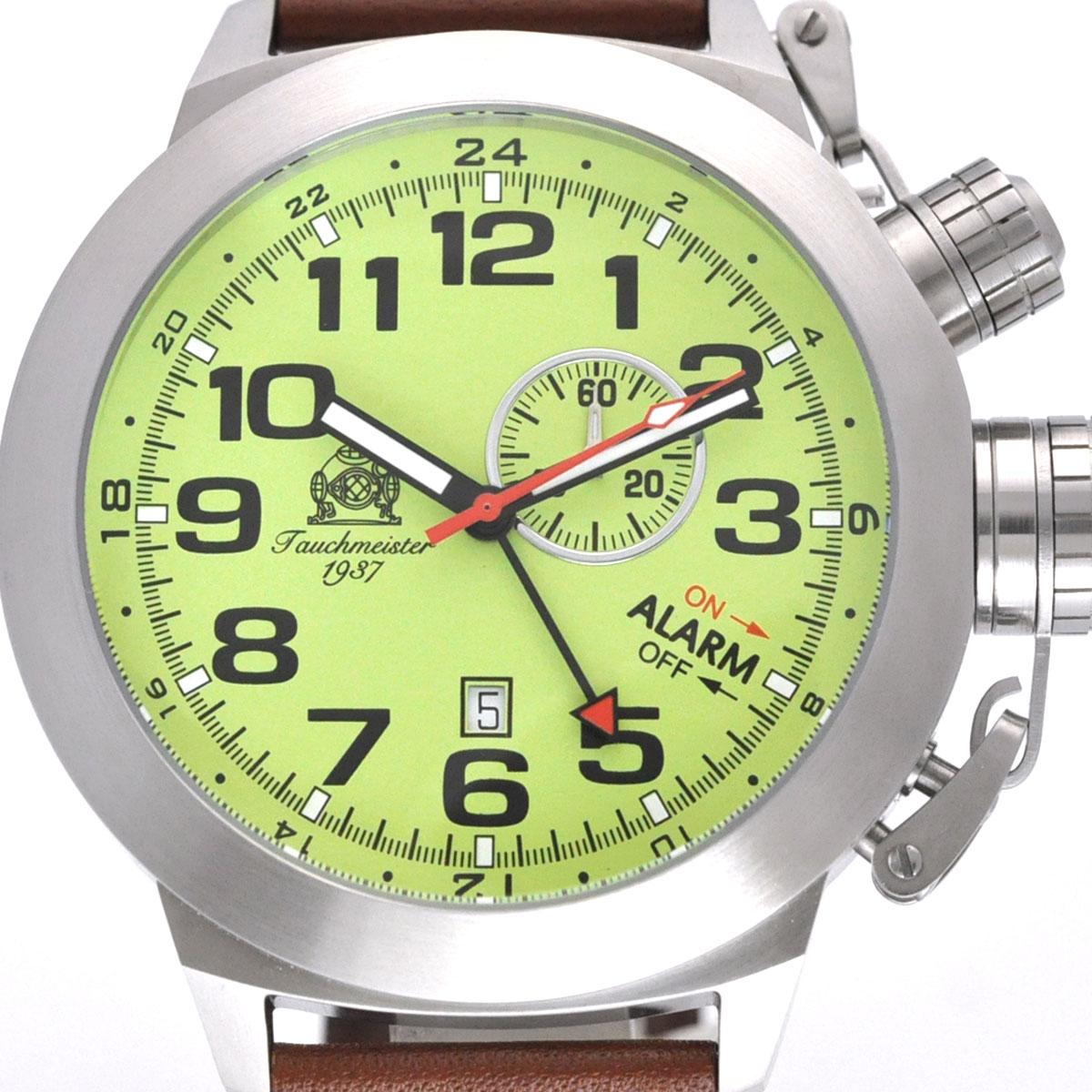 【残り1点】Tauchmeister 1937 トーチマイスター1937 電池式クォーツ 腕時計 [T0306] 並行輸入品  デイト GMT(ワールドタイム) アラーム
