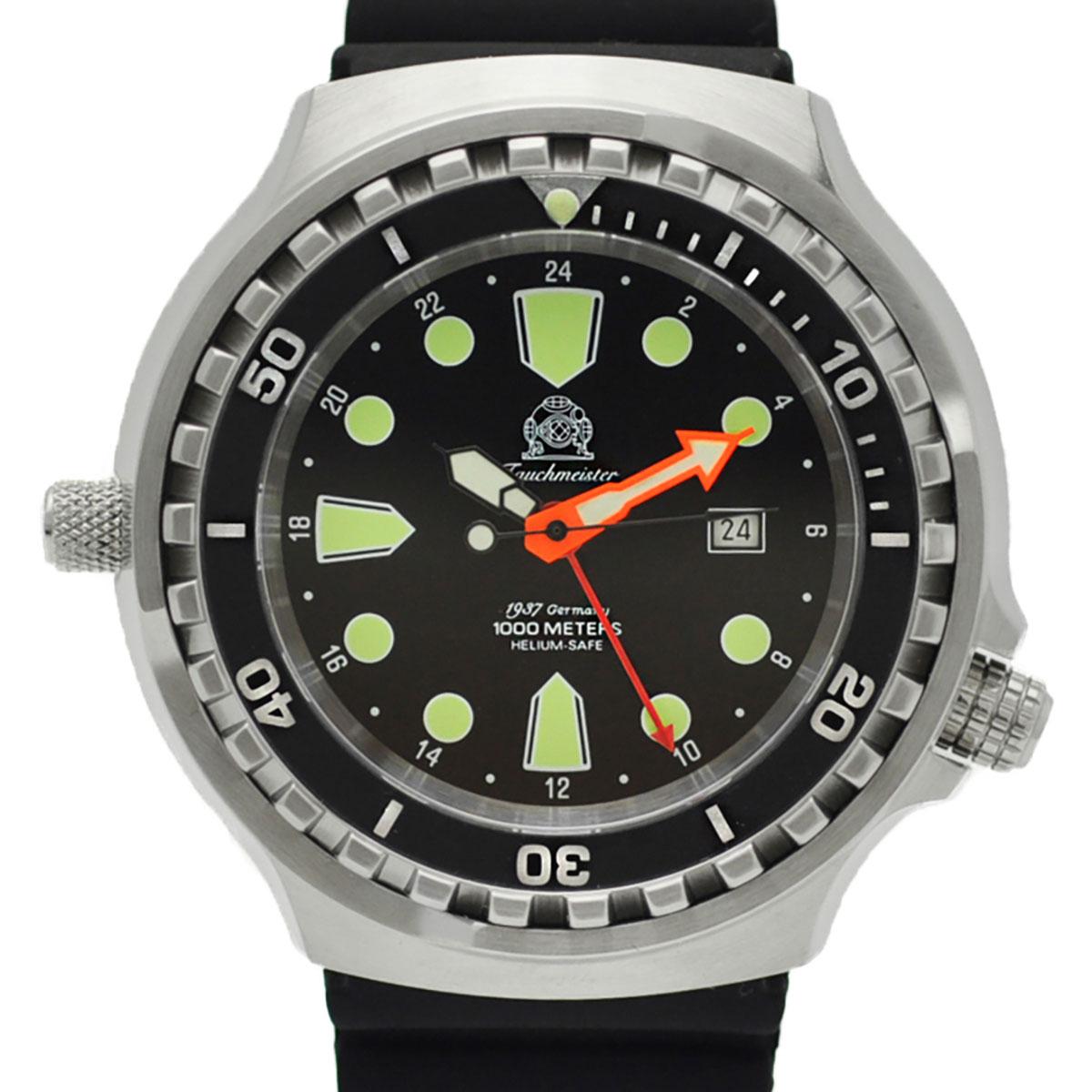 Tauchmeister 1937 トーチマイスター1937 自動巻き(手巻き機能あり) 腕時計 [T0309] 正規代理店品  デイト 逆回転防止ベゼル ダイバーズ ヘリウムエスケープバルブ
