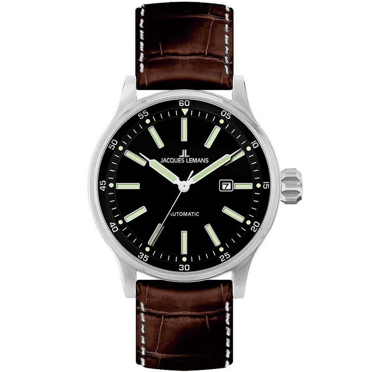【残り1点】JACQUES LEMANS ジャックルマン 自動巻き 腕時計 メンズ スポーツウォッチ [1-1723B] 並行輸入品 メーカー保証24ヶ月 純正ケース付き
