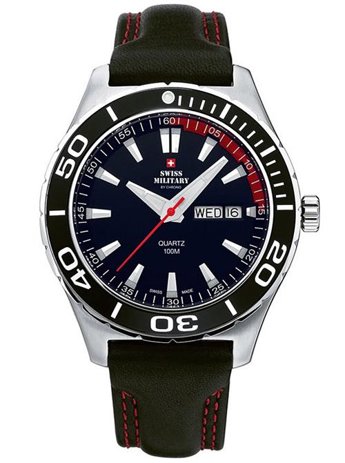 【残り1点】SwissMilitary スイスミリタリー クォーツ 腕時計 メンズ ウォッチ [20075ST-1L] 並行輸入品 純正ケース付き