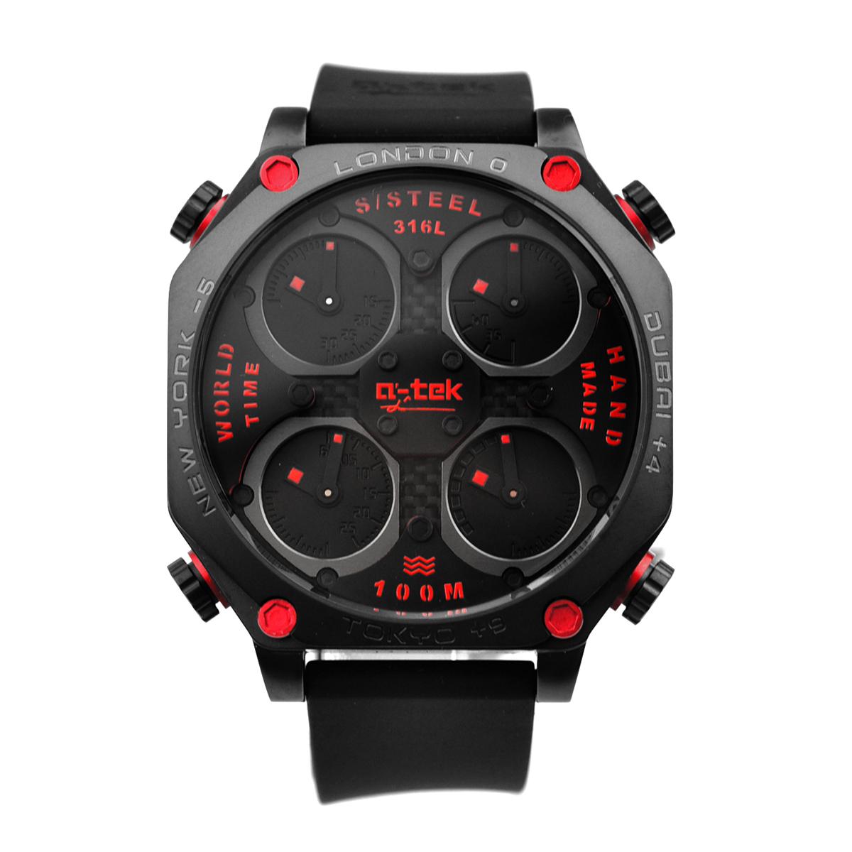 【残り1点】a-tek エイテック クォーツ 腕時計 メンズ ドイツ デザイナーズウォッチ [A1302R] 並行輸入品 メーカー保証12ヵ月 純正ケース付き