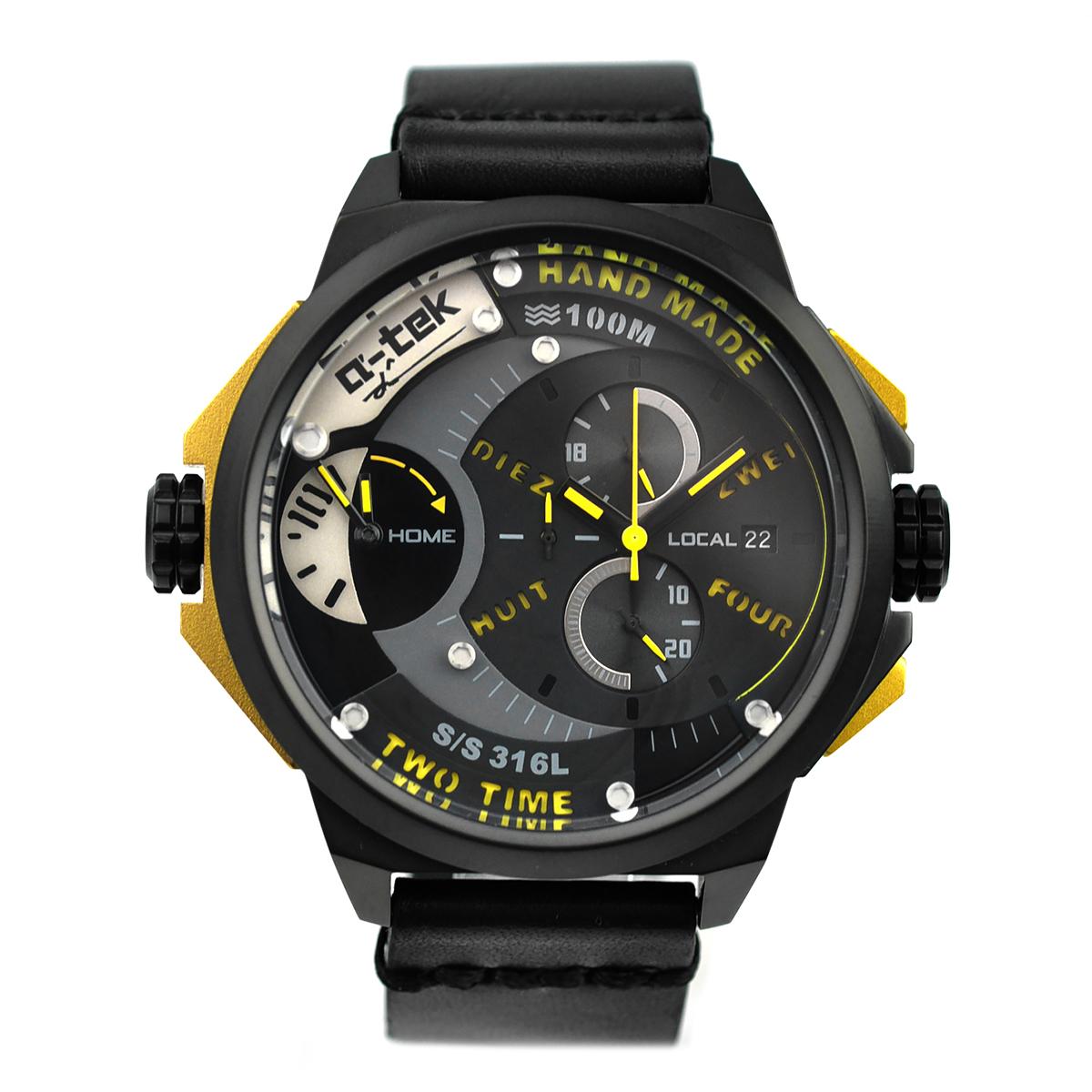 【残り1点】a-tek エイテック クォーツ 腕時計 メンズ ドイツ デザイナーズウォッチ [A1303L] 並行輸入品 メーカー保証12ヵ月 純正ケース付き
