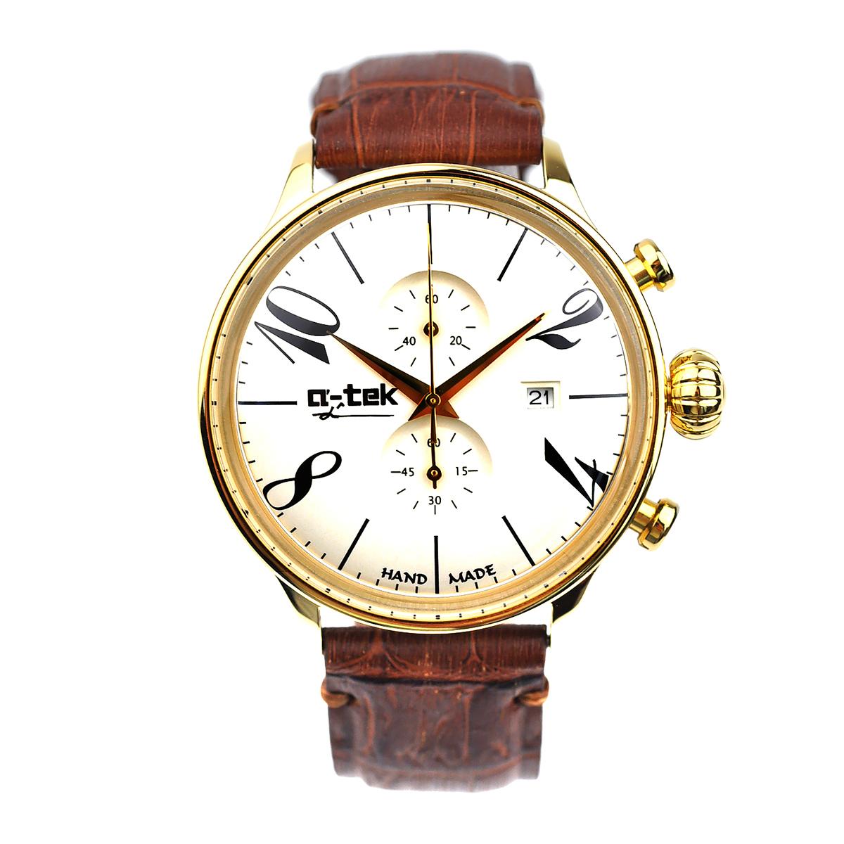 【残り1点】a-tek エイテック クォーツ 腕時計 メンズ ドイツ デザイナーズウォッチ [A1308G] 並行輸入品 メーカー保証12ヵ月 純正ケース付き