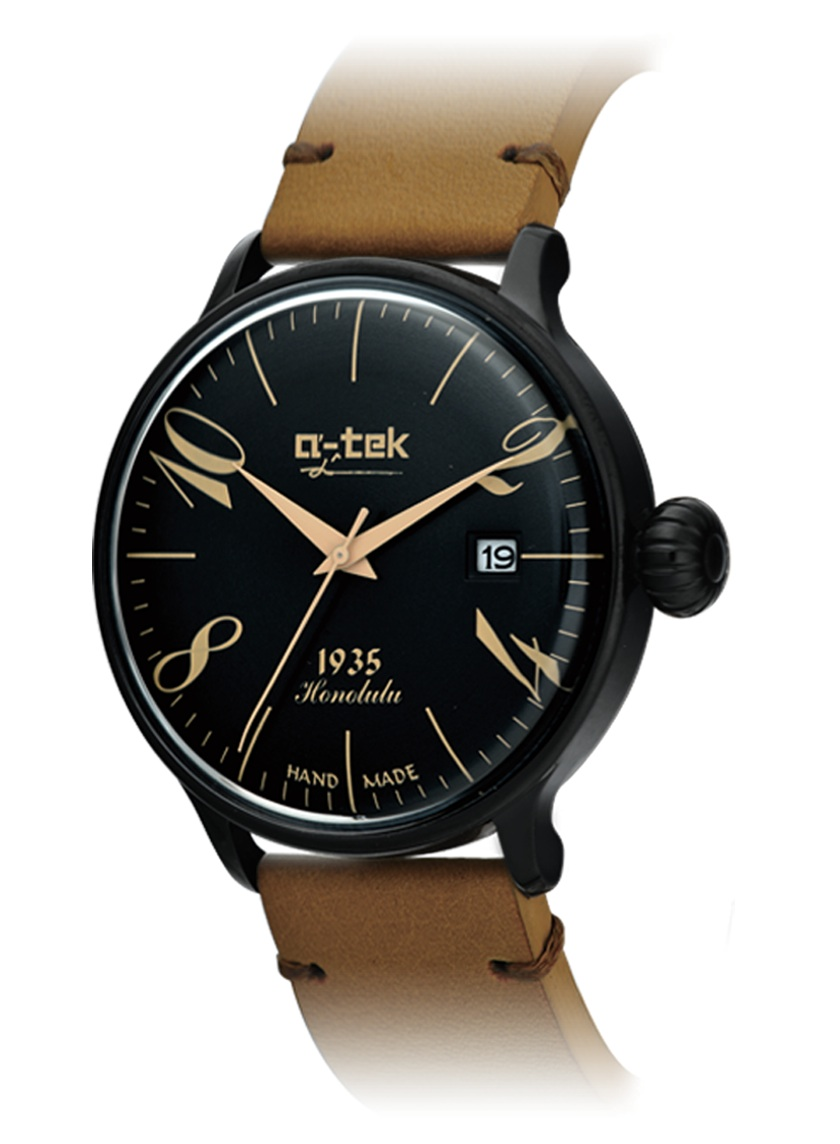 【残り1点】a-tek エイテック クォーツ 腕時計 メンズ ドイツ デザイナーズウォッチ [A1309B] 並行輸入品 メーカー保証12ヵ月 純正ケース付き