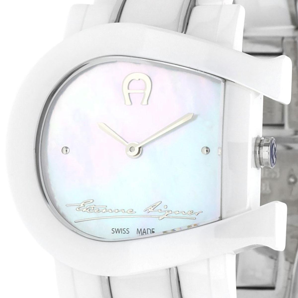 AIGNER アイグナー 電池式クォーツ 腕時計 [A31643] 並行輸入品 ホワイト(白)
