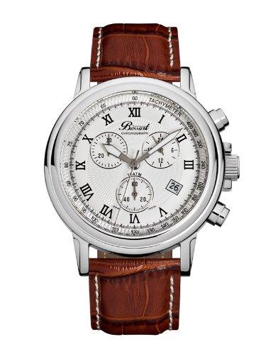 Bossart ボッサート クォーツ 腕時計 メンズ [BW-1201-WAS-BrLe] 並行輸入品 メーカー保証24ヵ月 純正ケース付き