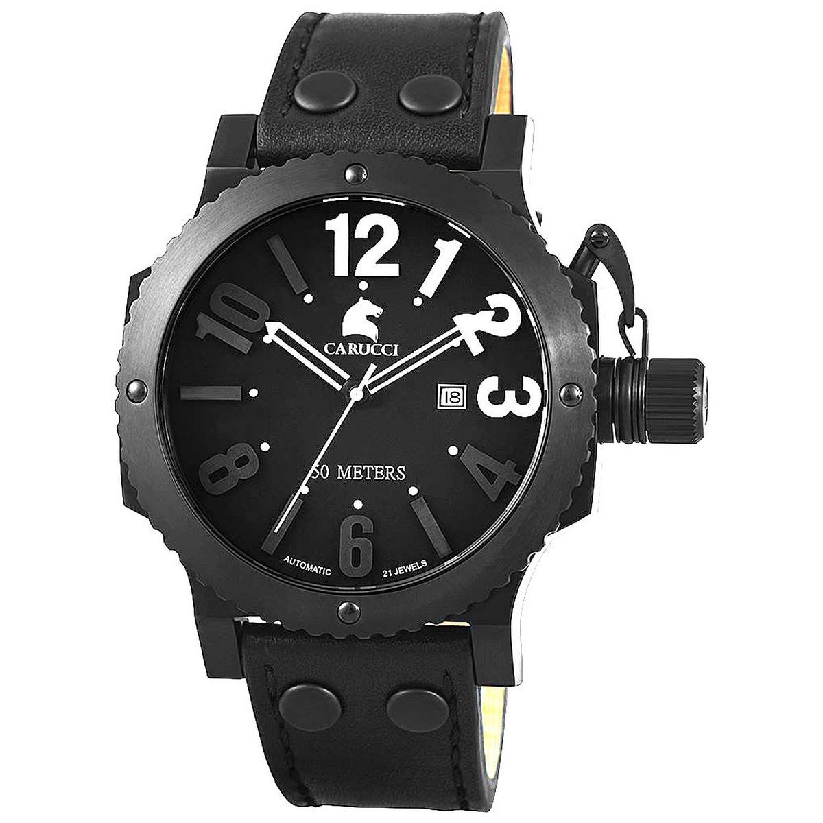 Carucci カルッチ 自動巻き 腕時計 メンズ [CA2211BK-WH] 並行輸入品 メーカー国際保証24ヵ月 純正ケース付き
