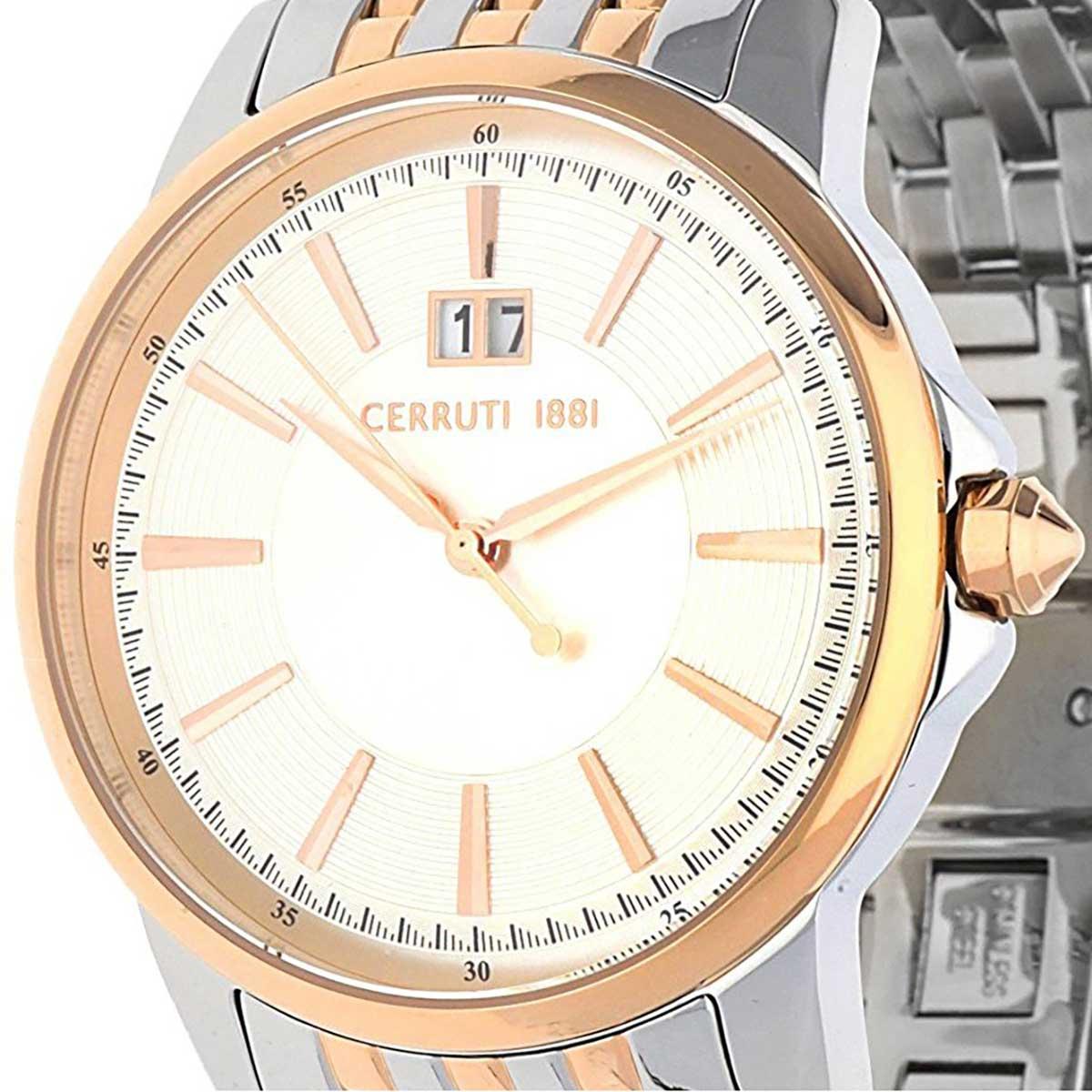 【残り1点】CERRUTI 1881 チェルッティ1881 電池式クォーツ 腕時計 [CRA072STR04MRT] 並行輸入品 ゴールド(金)