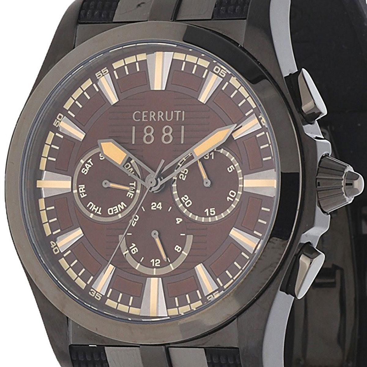 【残り1点】CERRUTI 1881 チェルッティ1881 電池式クォーツ 腕時計 [CRA076BU12] 並行輸入品 ブラウン(茶)