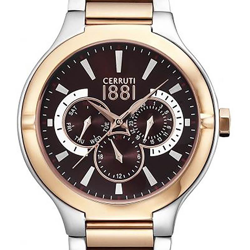 【残り1点】CERRUTI 1881 チェルッティ1881 電池式クォーツ 腕時計 [CRA105STR12MRT] 並行輸入品 純正ケース メーカー保証 24ヶ月 取扱説明書(日本語表記なし)