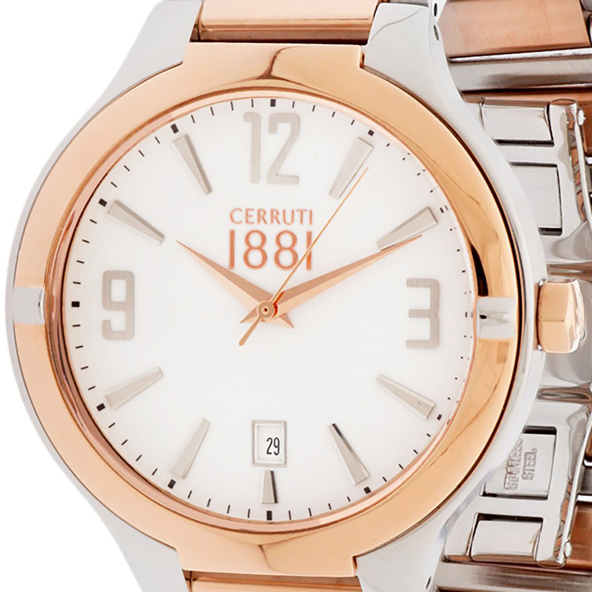 【残り1点】CERRUTI 1881 チェルッティ1881 電池式クォーツ 腕時計 [CRA106STR01MRT] 並行輸入品 ホワイト(白)