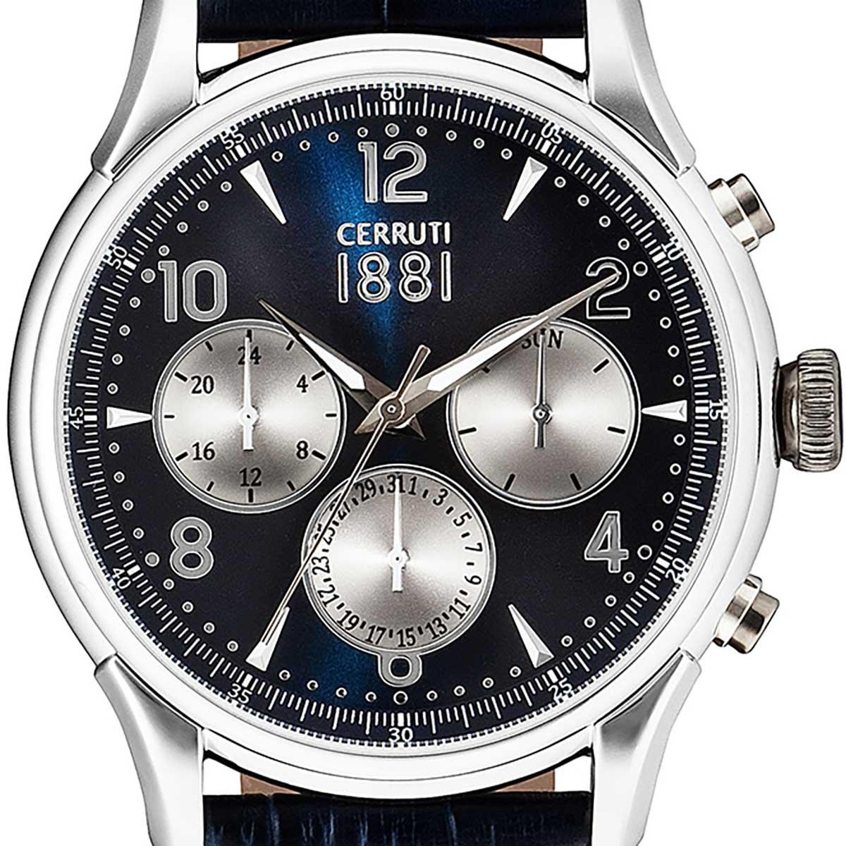 CERRUTI 1881 チェルッティ1881 電池式クォーツ 腕時計 [CRA107SN03BL] 並行輸入品 ネイビー(紺)