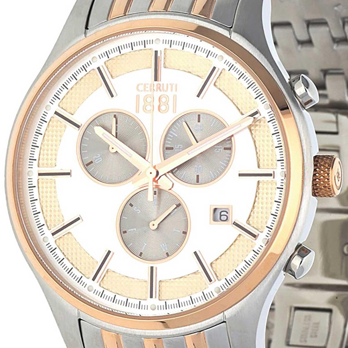 【残り1点】CERRUTI 1881 チェルッティ1881 電池式クォーツ 腕時計 [CRA115STR04MRT] 並行輸入品 ゴールド(金)