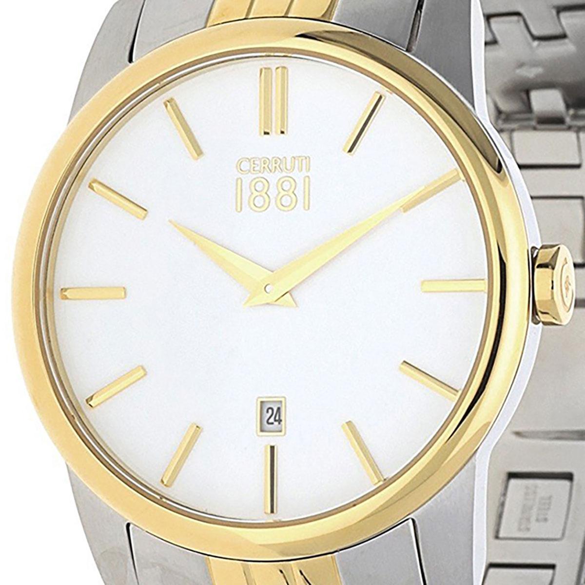 CERRUTI 1881 チェルッティ1881 電池式クォーツ 腕時計 [CRA117STG01MGT] 並行輸入品 ホワイト(白)