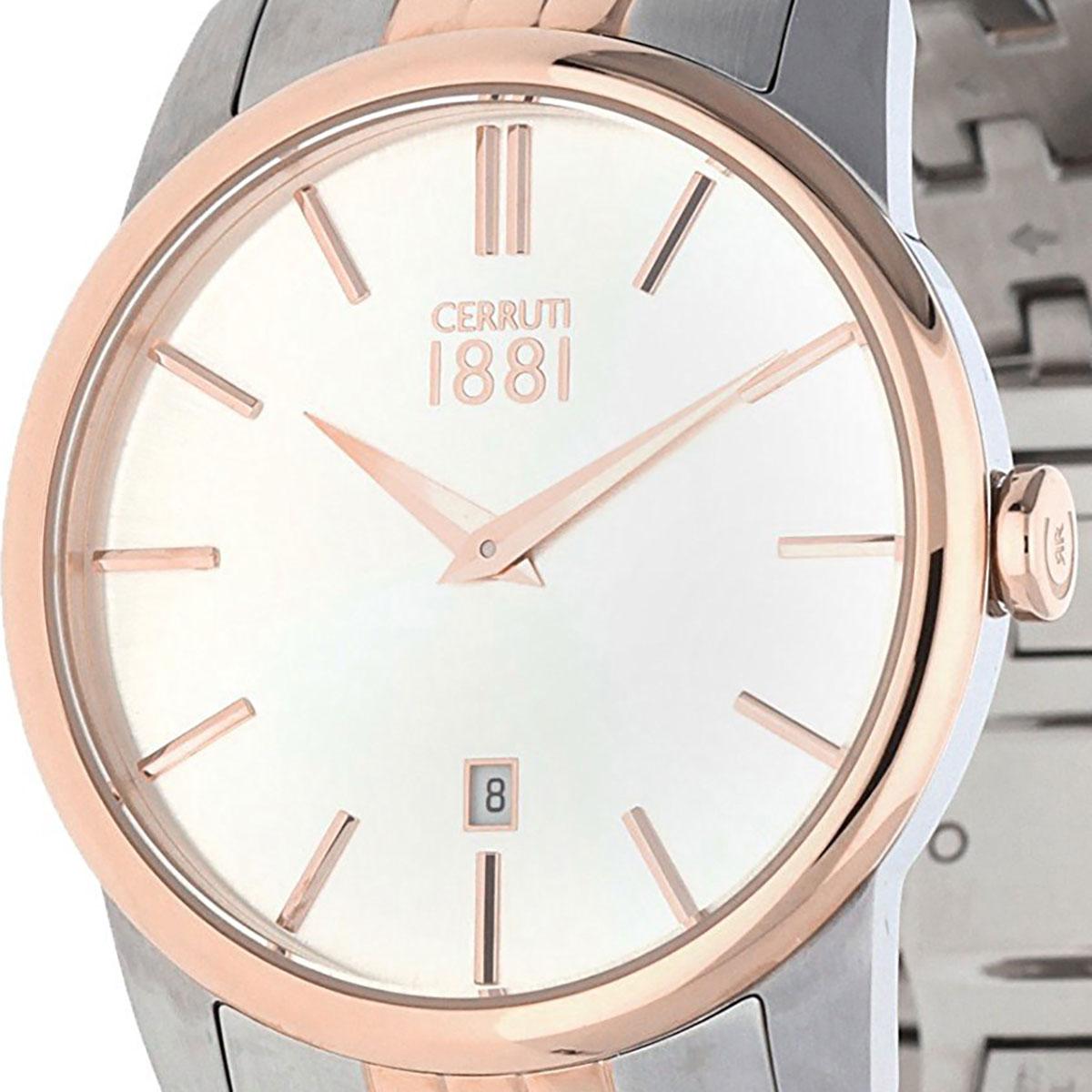 CERRUTI 1881 チェルッティ1881 電池式クォーツ 腕時計 [CRA117STR07MRT] 並行輸入品 ゴールド(金)