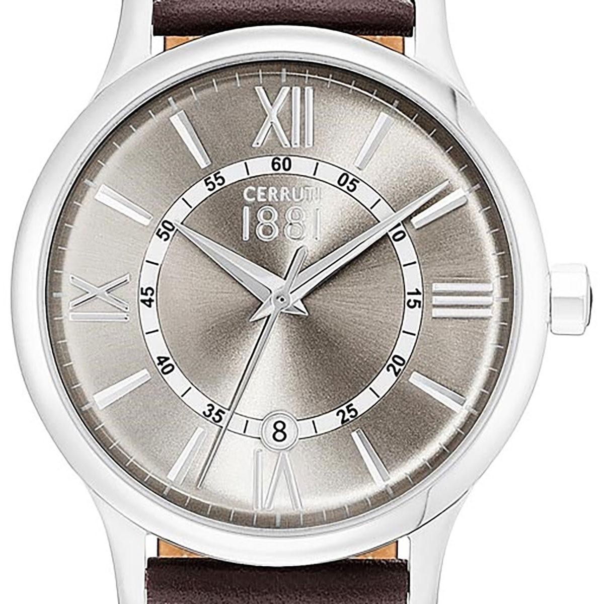 【残り1点】CERRUTI 1881 チェルッティ1881 電池式クォーツ 腕時計 [CRA143SN13BR] 並行輸入品 ブラウン(茶)