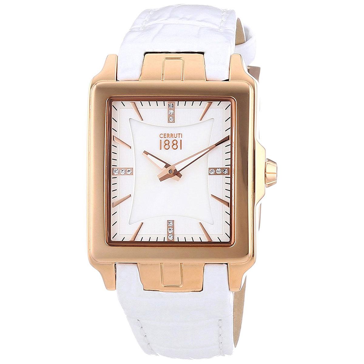 CERRUTI 1881 チェルッティ1881 電池式クォーツ 腕時計 [CRC014C216A] 並行輸入品 ホワイト(白)