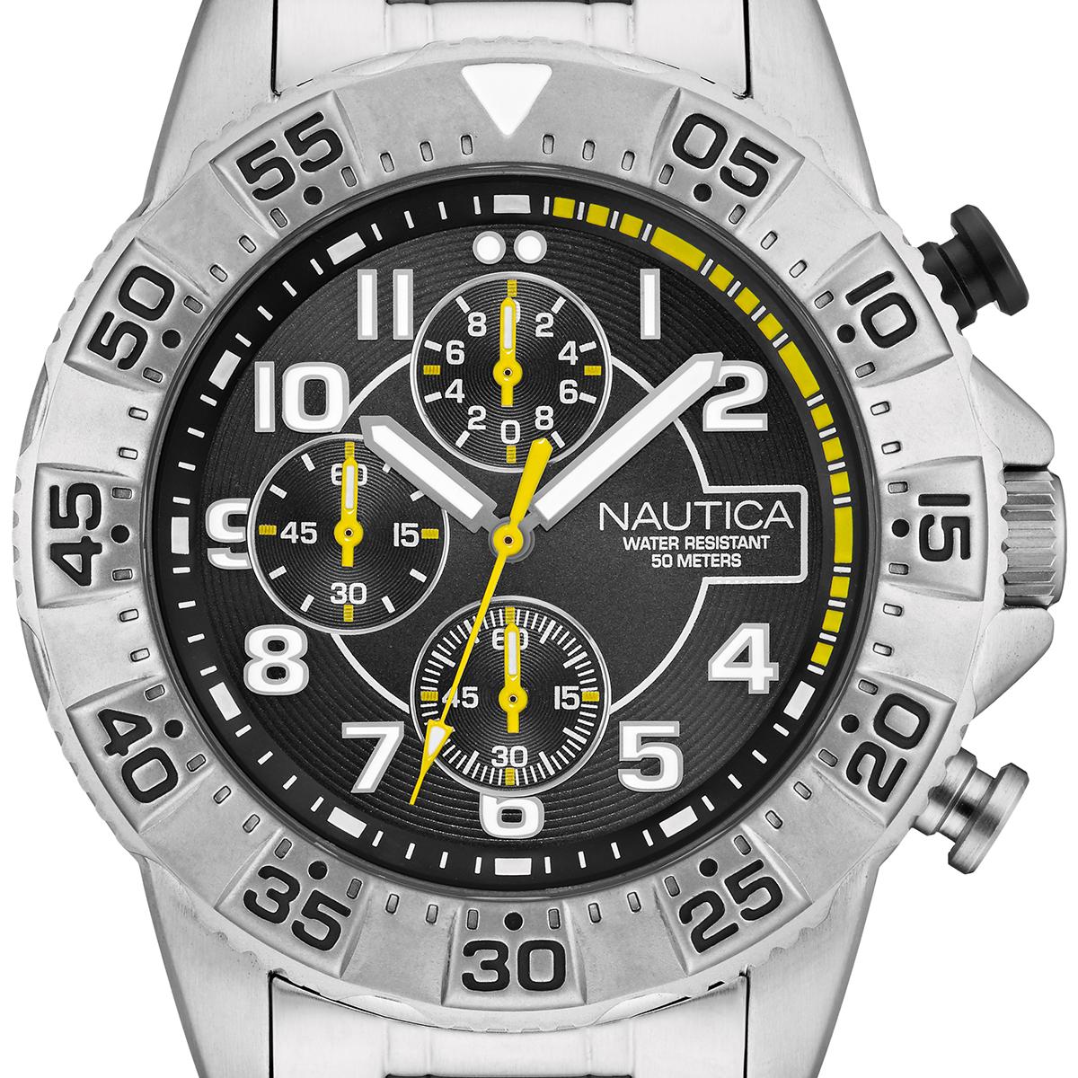 NAUTICA ノーティカ ノーチカ クォーツ 腕時計 メンズ ファッション マリンスポーツ [NAD16004G] 並行輸入品 純正ケース メーカー保証12ヶ月