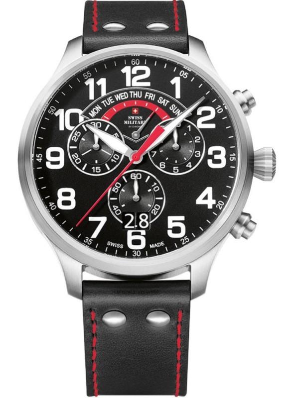 【残り1点】SwissMilitary スイスミリタリー クォーツ 腕時計 メンズ ウォッチ [SM34038-01] 並行輸入品 純正ケース付き