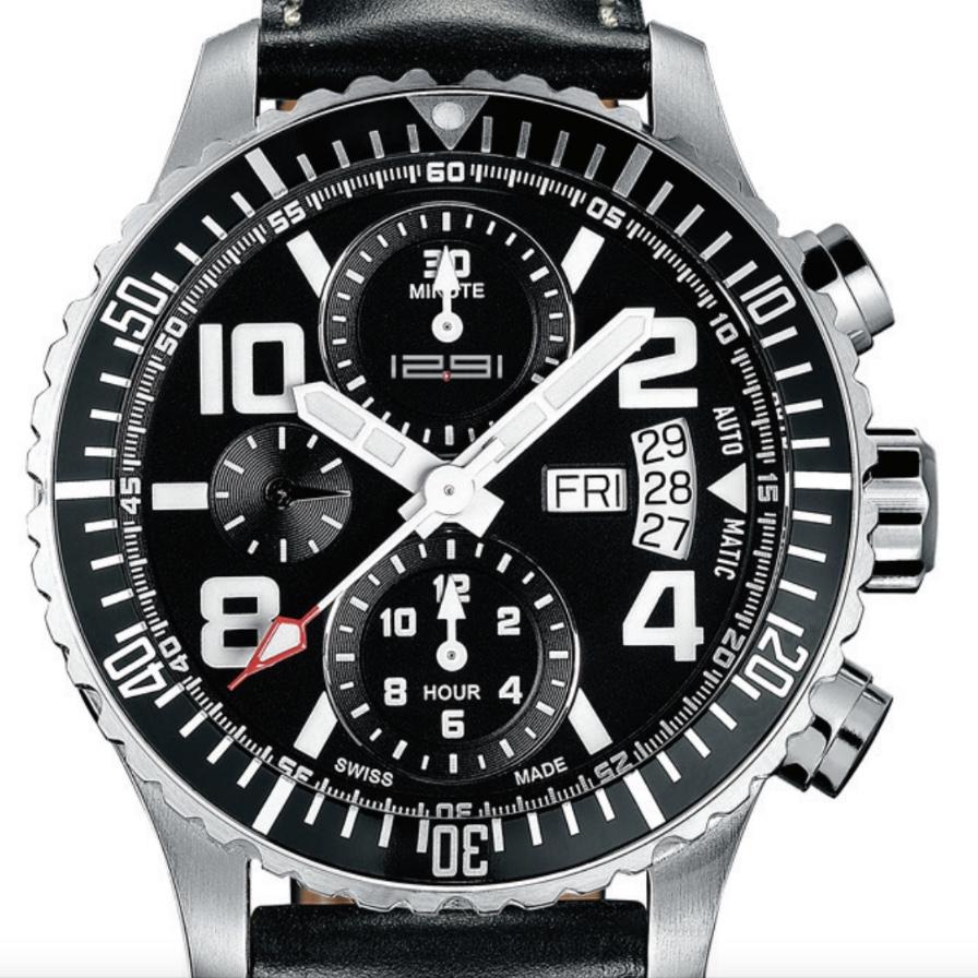 1291 Watches スイス製 腕時計 メンズ 1291 PILOT Automatic - ETA Caliber Valjoux 7750 クロノグラフ [1291PA] 並行輸入品 メーカー国際保証24ヵ月 純正ケース付き