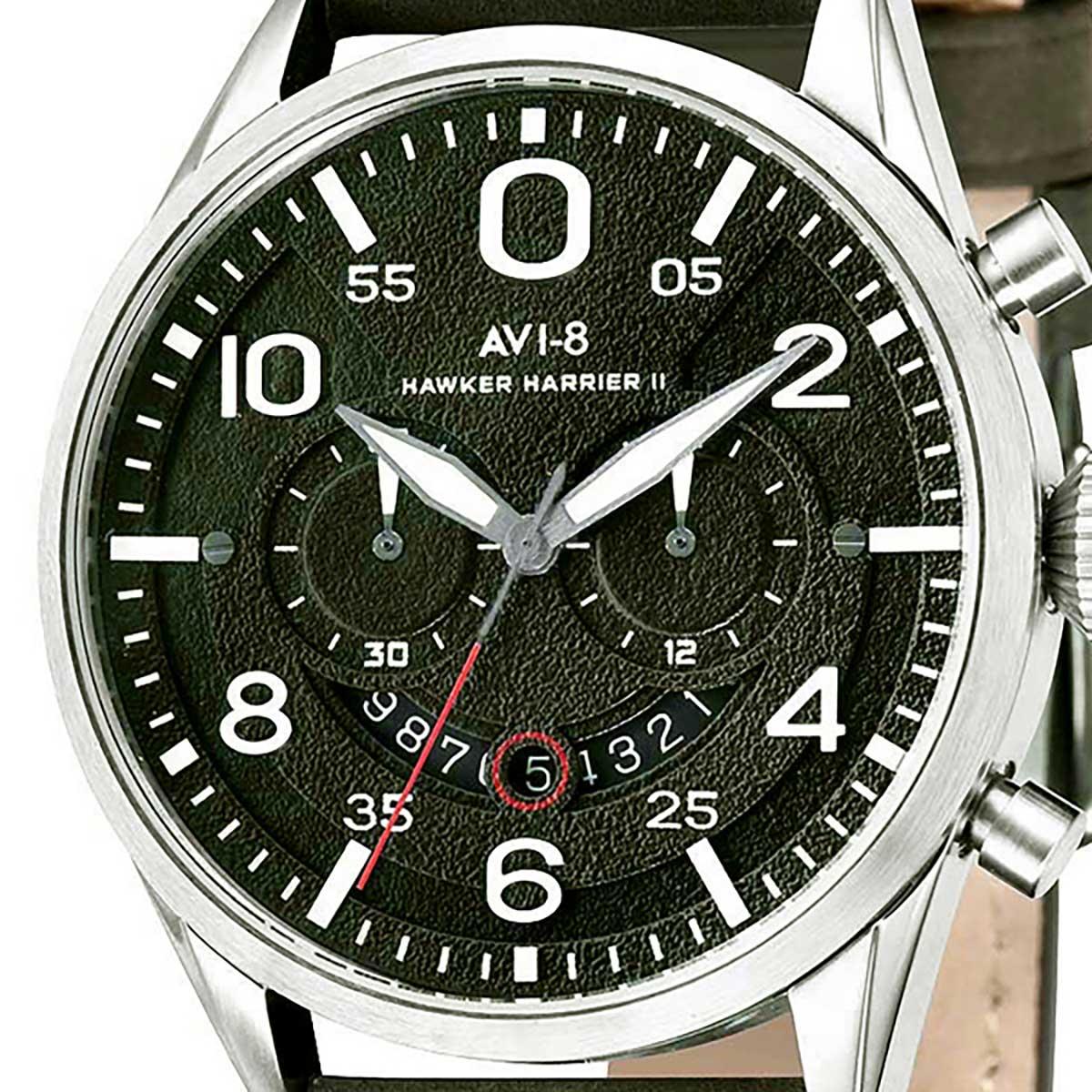 AVI-8 アヴィエイト 電池式クォーツ 腕時計 [AV-4031-03] 並行輸入品  デイト クロノグラフ